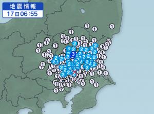 茨城地震余震1
